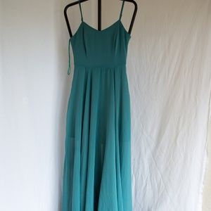 NWT She + Sky Floor Length Prom Chiffon Gown Small